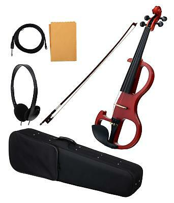 Professional Electric Violin 4/4 Size Gig Bag Bow Cable Spruce Matt Finish Set