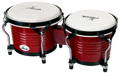 "1 Pair Professional Percussion Bongos 6.5"" 7.5"" Hand Instrument Natural Winered"