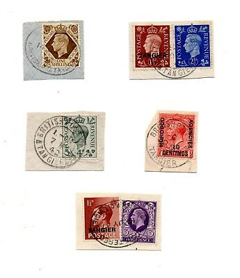 Morocco Agencies - various used stamps on pieces