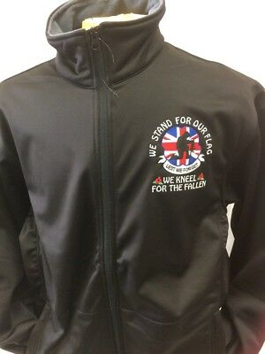 glasgow rangers soft shell jacket size large new with embroidered logo