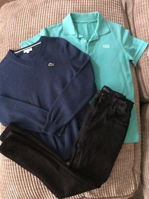 Lacoste, Hugo Boss, River Island Boys Outfit, Bundle, Age 10 Years Jumper,jeans