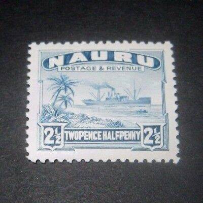K.G.V MINT HINGED NAURU 21/2d FREIGHTER STAMP FROM 1924,,,,99p START.