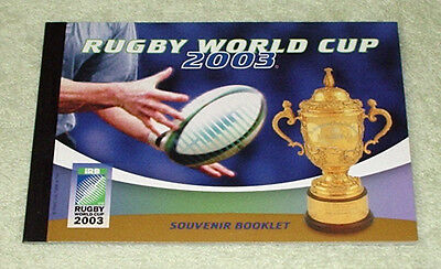 Booklet, 2003 Rugby World Cup - Mint unhinged.