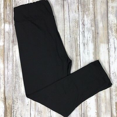 Simply The Best Solid Black CAPRI Leggings Butter Soft  OS TC S M L XL New Style
