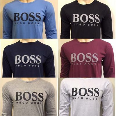 Hugo Boss Long Sleeve Regular Fit Crew Neck T-Shirt For Men
