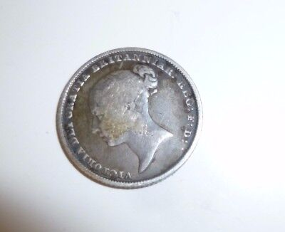 Queen Victoria Sterling Silver Sixpence 1841 Great Britain Uk