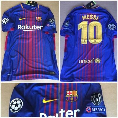 Maglia Shirt FC Barcellona Messi # 10 Vapor Match Home Player Version 2017/2018