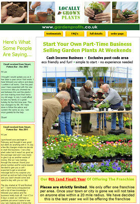 Locally Grown Plants Mini-Franchise. Exclusive area, full support, proven