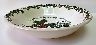 """PORTMEIRION THE HOLLY AND THE IVY 8.2"""" (22 cm) PASTA BOWL PLATE NEW"""