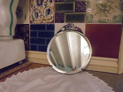 A Pretty Vintage Barbola Bevelled Dressing Table Mirror - (Renovated)