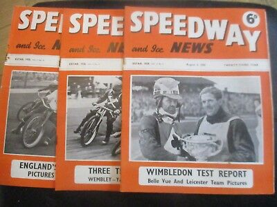 1950 Collection (3) Of 3  Of The  Speedway And Ice News  Magazine