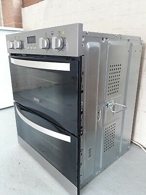Zanussi ZOF35501XK Built Under Double Oven in Stainless Steel