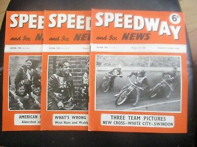 1950 Collection (4) Of 3  Of The  Speedway And Ice News  Magazine