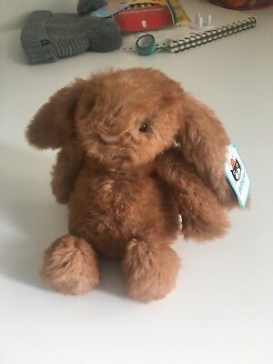 JELLYCAT Small Bashful Bunny Rabbit In Brown New With Tags
