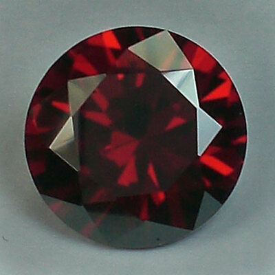10.80 CT.12x7.1 mm. AWESOME RED BRILLIANT ROUND DIAMOND (Lab-Created)