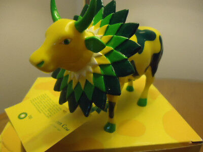 """cow parade How Now Green Cow """"BP"""" Limited Edition"""
