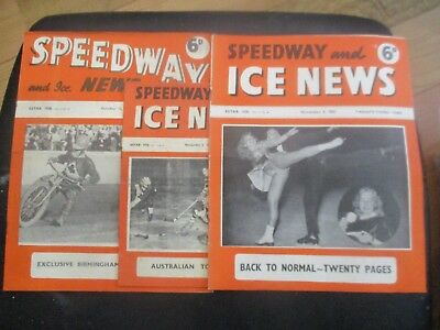1950 Collection (7) Of 3  Of The  Speedway And Ice News  Magazine