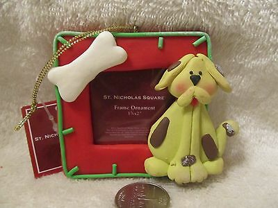 Adorable Puppy Dog Frame Ornament Nwt By St. Nicholas Square