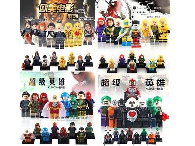 KFA Custom minifigure KF6061 Super Hero 2x2 Brick Robin Batman Batgirl Superman+