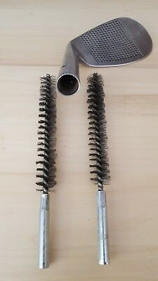 2 x QUALITY HICKORY GOLF CLUB HOSEL CLEANING WIRE BRUSHES FOR DRILL