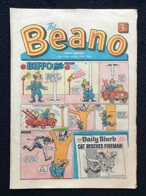 The Beano Comics #1330. 13th January 1968 Vintage Collectible. D C THOMSON