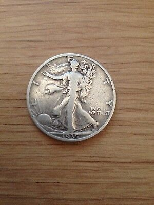1935 USA 900 Silver walking Liberty Half Dollar