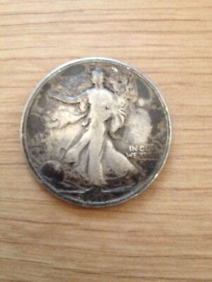 Rare 1917. 900 USA Silver walking Liberty Half Dollar