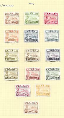 Nauru stamps 1946 Collection of 15 stamps HIGH VALUE!