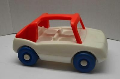 LITTLE TIKES Dollhouse sized RED AND WHITE Toddle Tots CAR - 1988 VINTAGE ITEM
