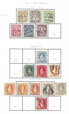 Switzerland stamps 1882 Collection of 16 CLASSIC stamps HIGH VALUE!