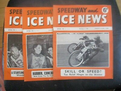 1951 Collection (1) Of 3  Of The  Speedway And Ice News  Magazine