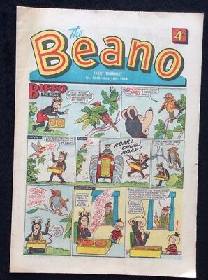 The Beano Comics #1348. 18th May 1968 Vintage Collectible. D C THOMSON & CO.
