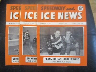 1951 Collection (2) Of 3  Of The  Speedway And Ice News  Magazine