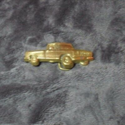 Vintage Solid Brass Buckle ' Pick Up Truck Design' - New
