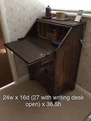 Antique Writing Bureau - dark oak