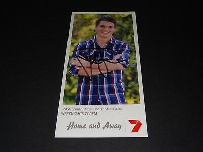 Home & Away Fan Card Fancard Oscar Macguire And Hand Signed By Jake Speer