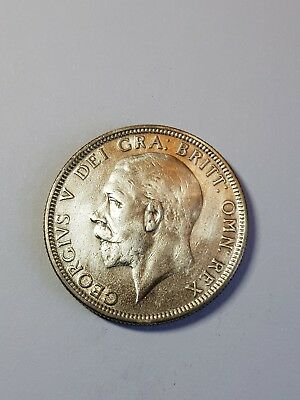 Good Grade 1928 British Silver Coin - One Florin - George V.