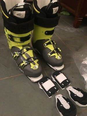 Salomon Quest Pro 130 Ski Boots 28.5 With Tech And Din Soles