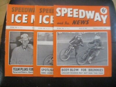 1951 Collection (3) Of 3  Of The  Speedway And Ice News  Magazine