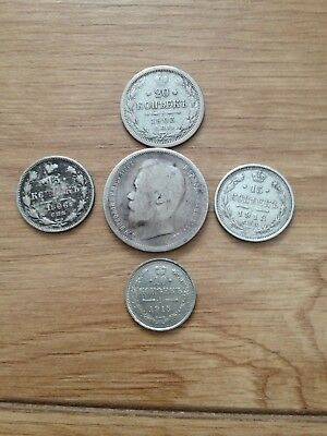 Russian  900 Silver Coins Lot Various Date