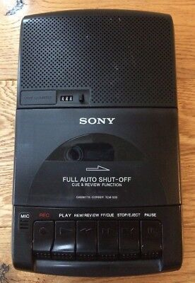 Classic Sony TCM-939 Portable Audio Cassette Tape Recorder Player Built In Mic