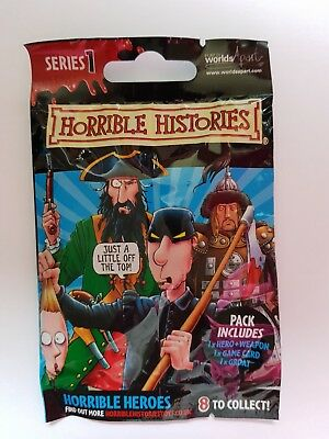 Horrible Histories Blind Bag Figure Pack - Series 1 - Contents Sealed And Unknow