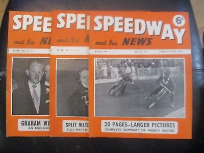 1951 Collection (4) Of 3  Of The  Speedway And Ice News  Magazine