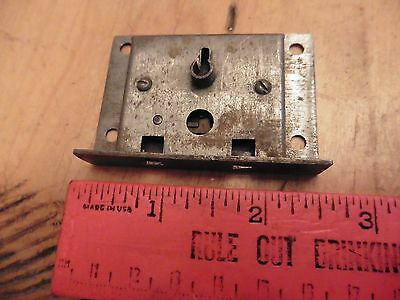 Vintage door lock dead bolt latch metal antique box hardware skeleton key hole