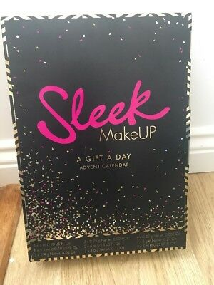 SLEEK MAKEUP A GIFT A DAY BEAUTY ADVENT CALENDAR 2017 24 ITEMS Xmas