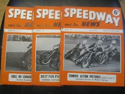 1951 Collection (6) Of 3  Of The  Speedway And Ice News  Magazine