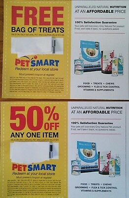 PETSMART 1 Bag of Treats & 50% OFF Any Item Coupons ~ Only Natural Pet products