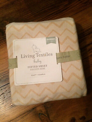 Living Textiles Baby ORGANIC Fitted Sheet - FOR CRIB - NEW* Gender Neutral*