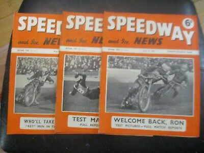 1951 Collection (7) Of 3  Of The  Speedway And Ice News  Magazine