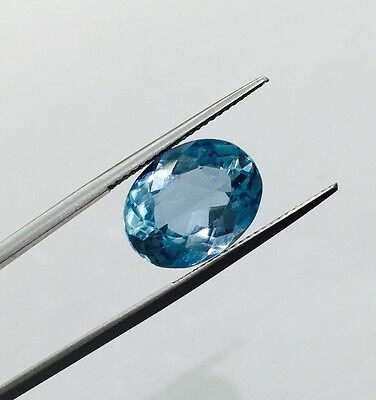 Egl Usa Certified Natural Oval Blue Aquamarine 6.30 Ct Appraised $5040.00